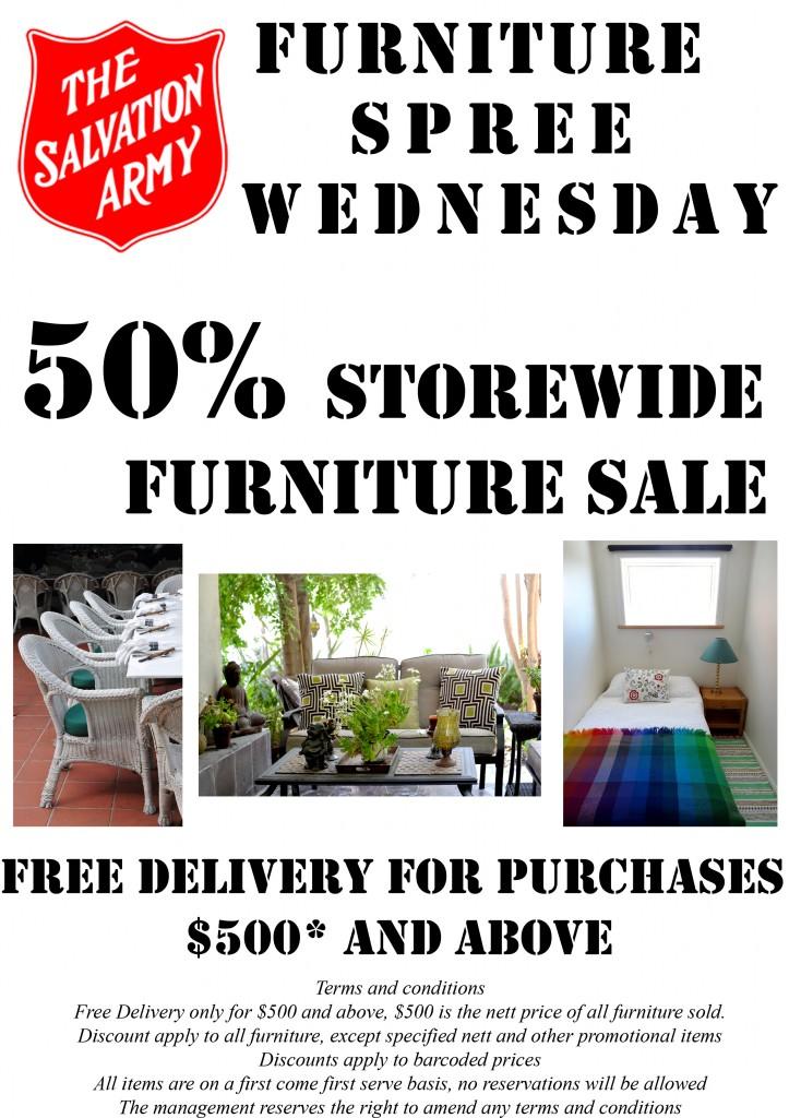 Wednesday Furniture Spree